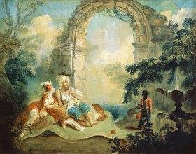Jean-Baptiste Hilaire: Türkischer Pascha und Odaliske