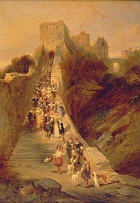 Louis Gabriel Eugene Isabey: Auszug aus dem Schloss