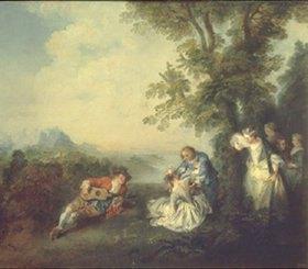 Nicolas Lancret: Hochzeitsgesellschaft am Rand eines Waldes. 1720-er Jahre