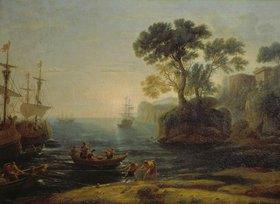 Claude Lorrain (Gellée): Die Ankunft Aeneas ´ in Italien, Beginn des römischen Reiches