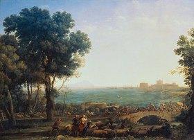 Claude Lorrain (Gellée): Die Schlacht zwischen Maxentius und Consta auf der Brücke