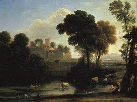 Claude Lorrain (Gellée): Italienische Landschaft
