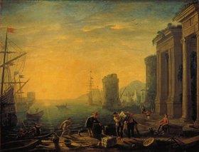 Claude Lorrain (Gellée): Morgenstimmung im Hafen. 1640-er Jahre
