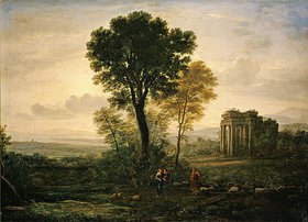 Claude Lorrain (Gellée): Morgenlandschaft