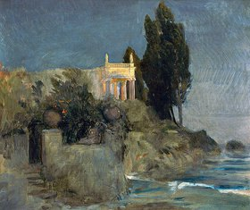 Arnold Böcklin: Villa am Meer. Skizze