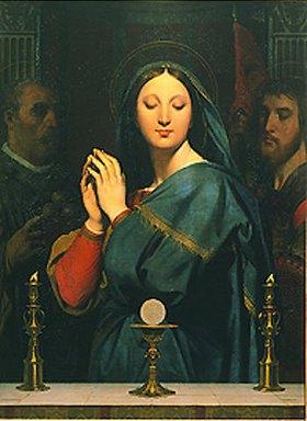 Jean Auguste Dominique Ingres: Die Hl. Jungfrau der Eucharistie