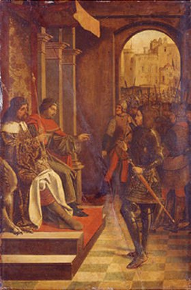 Meister des Hl. Sebastian (Liferinxe?): Der Hl. Sebastian vor den Kaisern Diokletian und Maximilian