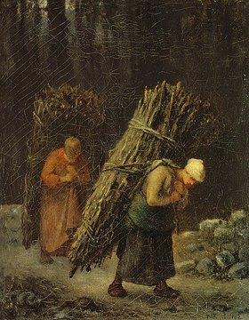 Jean-François Millet: Bauersfrauen mit Reisigbündeln