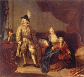 Antoine Pesne: Der Baron von Erlach mit seiner Familie