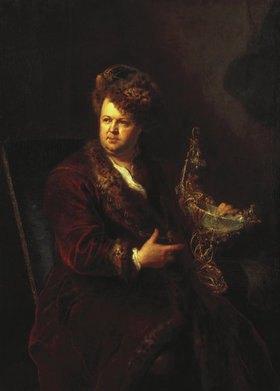 Antoine Pesne: Goldschmied Johann Melchior Dinglinger (1664-1731), Bildnis