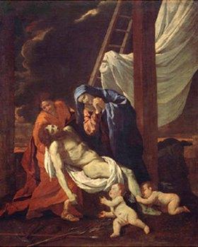 Nicolas Poussin: Grablegung Christi