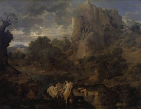Nicolas Poussin: Landschaft mit Herkules und Cacus