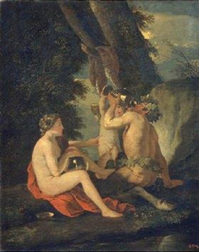 Nicolas Poussin: Satyr und Nymphe