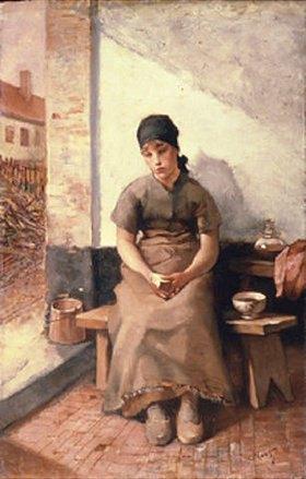 Constantin Meunier: Frühstück der Dienstmagd. 1800-er Jahre