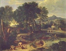 Jean-Francois I Millet: Landschaft mit Schafherde auf einem Weg