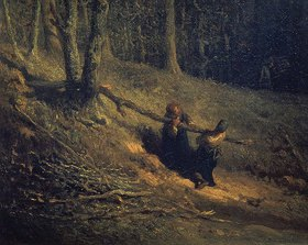 Jean-Francois I Millet: Holzsammler (Les Charbonnieres). 1860-er Jahre