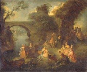 Pierre Antoine Quillard: Tanzvergnügen an einem Fluss-Ufer