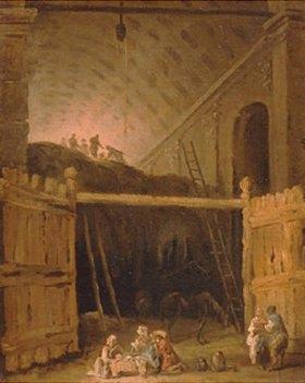 Hubert Robert: Eine Basilika als Heulagerstätte. 1790-er Jahre