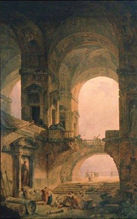 Hubert Robert: Sarkophage in alter Ruine
