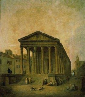 Hubert Robert: Das Maison Carrée in Nimes. 1780er Jahre
