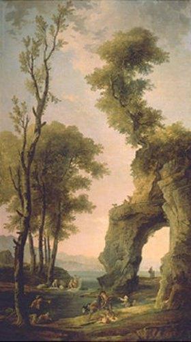 Hubert Robert: Landschaft mit Felsentor