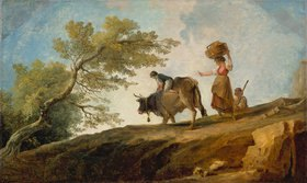 Hubert Robert: Heimkehr mit der Kuh