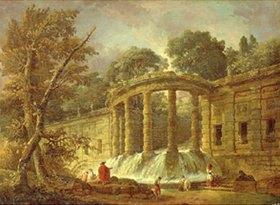 Hubert Robert: Pavillon mit Kaskade