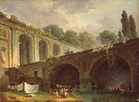 Hubert Robert: Die Villa Madama bei Rom. 1760-er Jahre