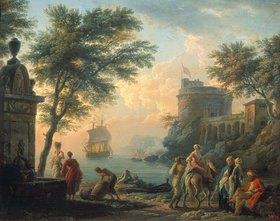 Claude Joseph Vernet: Abendstille am Hafen