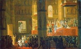Emile Jean Horace Vernet: Die Krönung der Zarin Maria Fjodorowna am 05. April