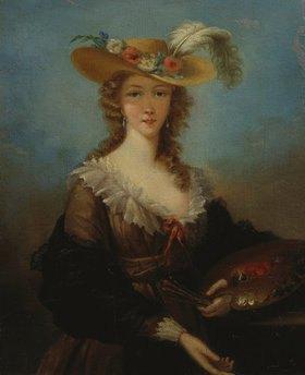 Elisabeth-Louise Vigée-Lebrun: Selbstbildnis mit Sommerhut