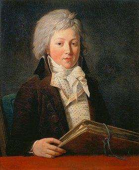 Francois André Vincent: Bildnis eines jungen Mannes mit einer Zeichenmappe