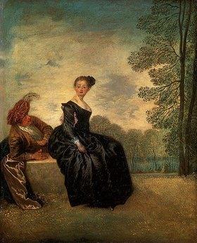 Jean Antoine Watteau: La Boudeuse