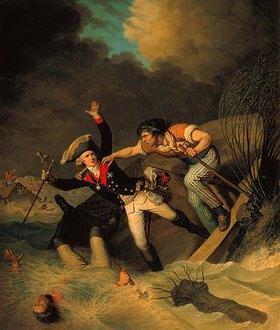 Pierre Alexandre Wille: Der Tod des Herzogs Leopold von Braunschweig im Hochwasser