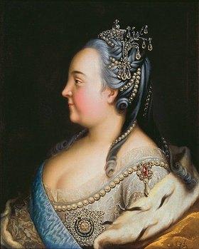 Heinrich Buchholtz: Zarin Elisabeth (1709-1762) mit Perlen, Bildnis