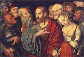 Lucas Cranach d.J.: Christus und die Sünderin