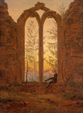 Caspar David Friedrich: Träumender Mann in Kirchenruine