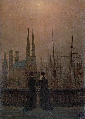 Caspar David Friedrich: Abendlicher Hafen (die Geschwister)