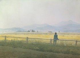 Caspar David Friedrich: Landschaft mit betrachtendem Wanderer