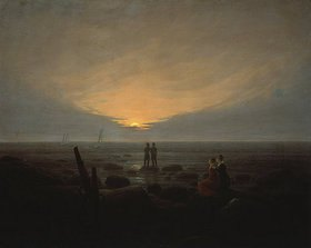 Caspar David Friedrich: Mondaufgang über dem Meer