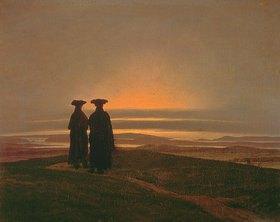 Caspar David Friedrich: Sonnenuntergang (Die Brüder)