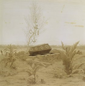 Caspar David Friedrich: Sarg auf einem frischen Grab