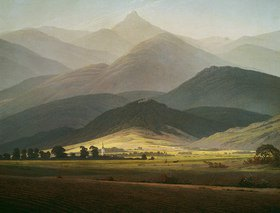 Caspar David Friedrich: Berglandschaft. Die Kleine Sturmhaube von Warmbrunn gesehen