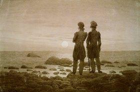 Caspar David Friedrich: Zwei Männer am Strand