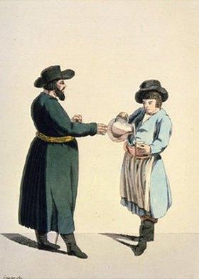 Christian Gottfried Geissler: Getränkeverkäufer (Händler-Szene I.)