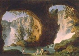 Jacob Philipp Hackert: Landschaft mit Wasserfällen