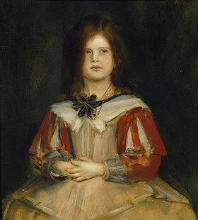 Franz von Lenbach: Bildnis eines jungen Mädchens (Gabriella Lenbach)