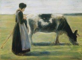 Max Liebermann: Bauernmädchen mit Kuh