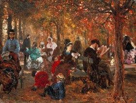 Adolph von Menzel: Im Jardin de Luxembourg