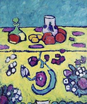 Alexej von Jawlensky: Stilleben mit bunter Decke